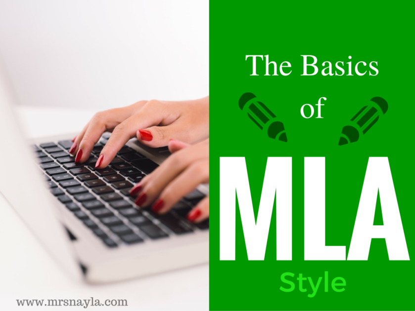 Examples of MLA style papers