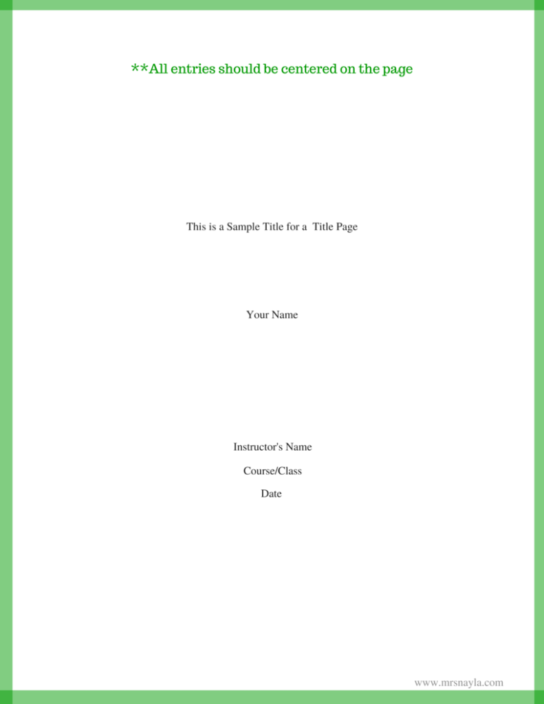 This is a Sample Title for a Title Page(1)