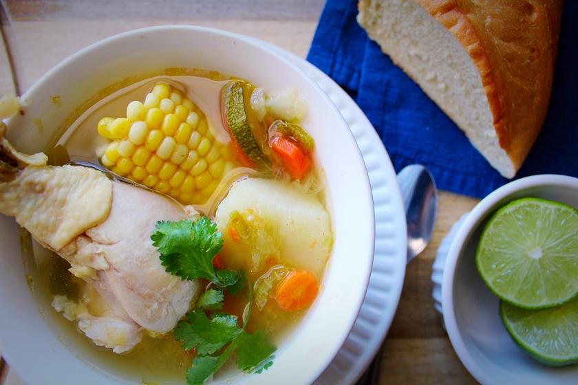 Homemade Mexican Chicken Soup Caldo de Pollo Mexicano